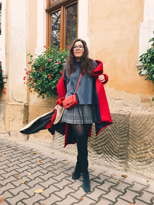 Red Coat Outfit | Fashion blogger wearing a red coat.