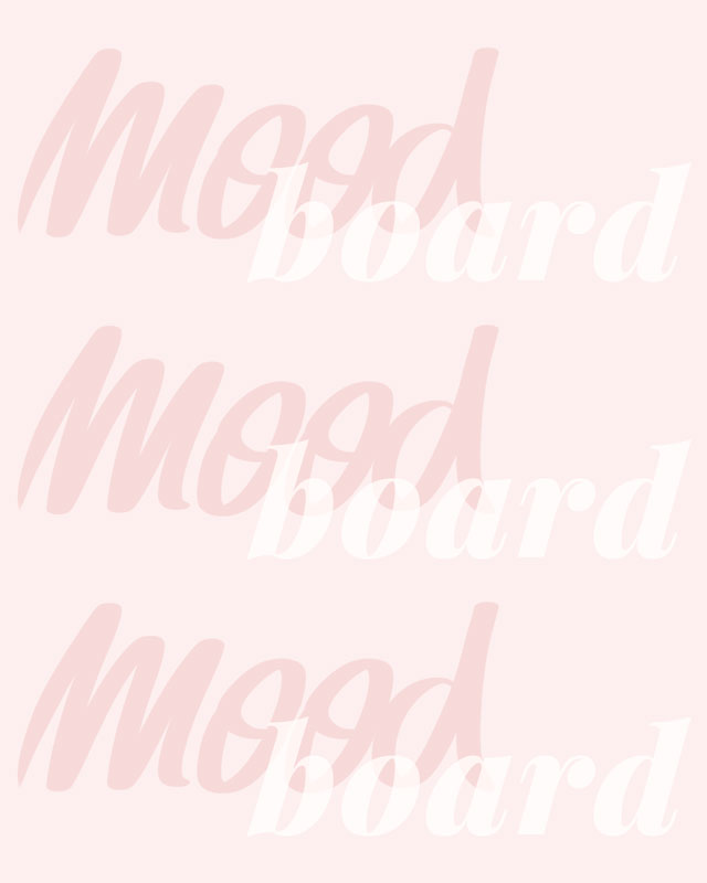 Mood Board Inspiration: graphic spelling of the word mood board