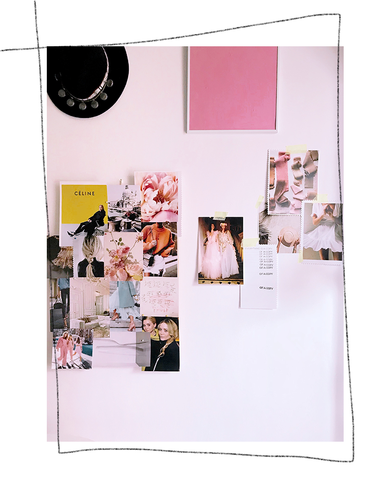 Mood Board Inspiration: how the mood board looks on the wall