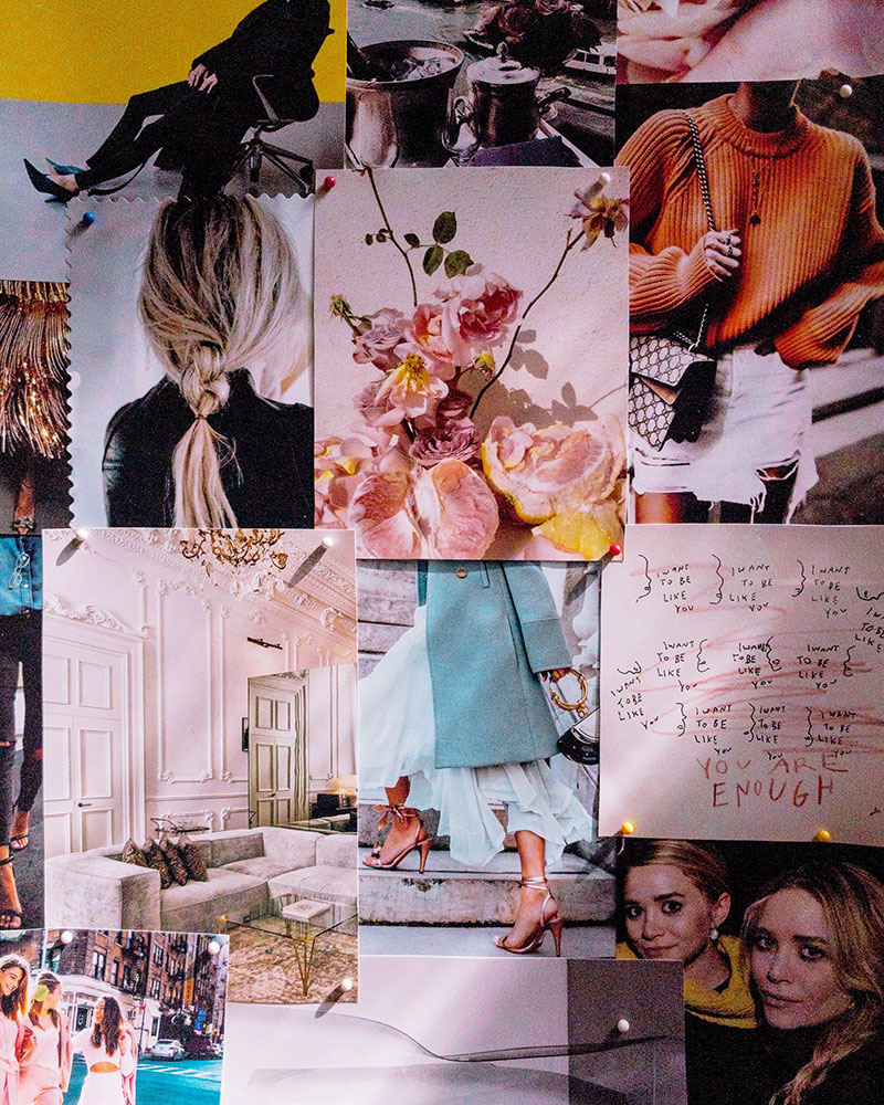 Mood Board Inspiration: the finished display