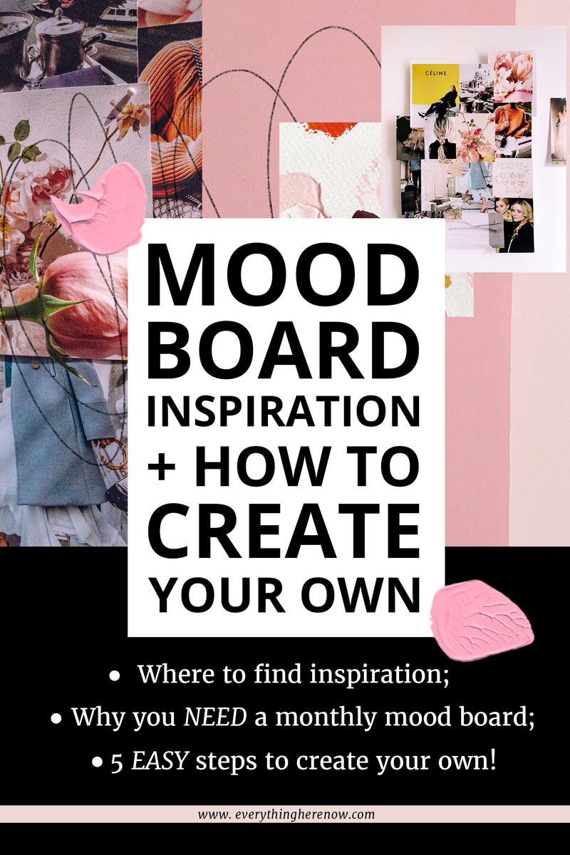 Mood Board Inspiration Pinterest Graphic