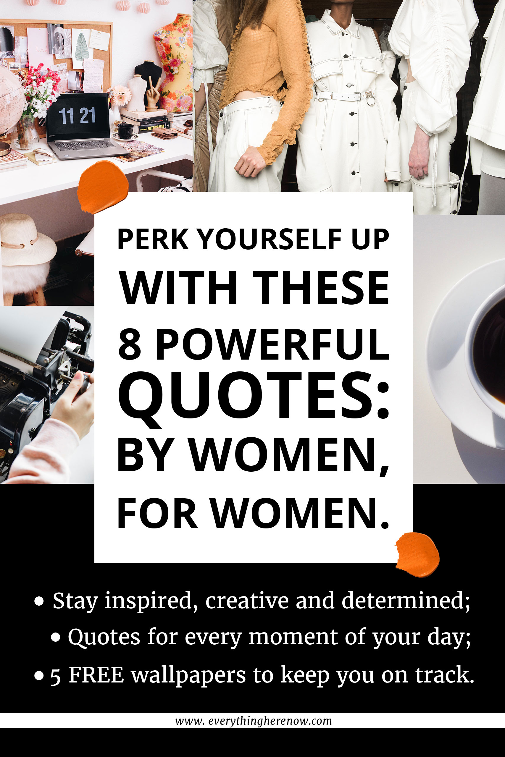 8 POWERFUL QUOTES FORM DETERMINED WOMEN: Discover powerful quotes for every moment of your day + 5 FREE wallpapers to match! – #quotes #inspiration #bossbabe #inspiringwords www.everythingherenow.com
