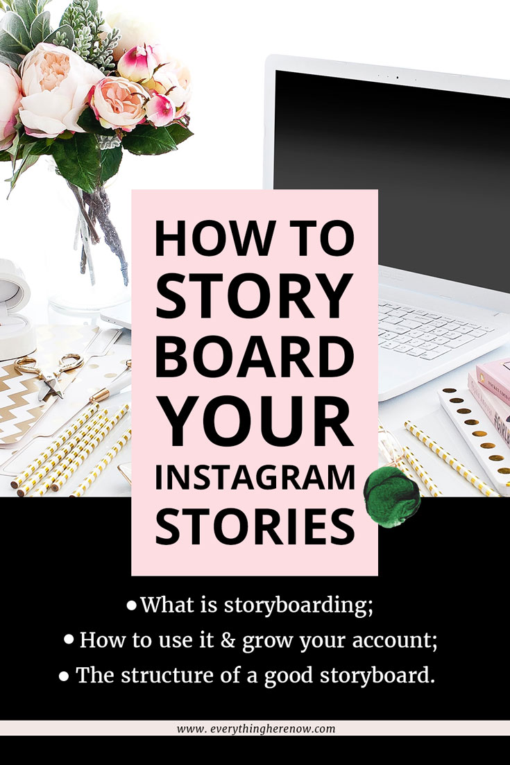 Pinterest Graphic How To Storyboard Instagram Stories