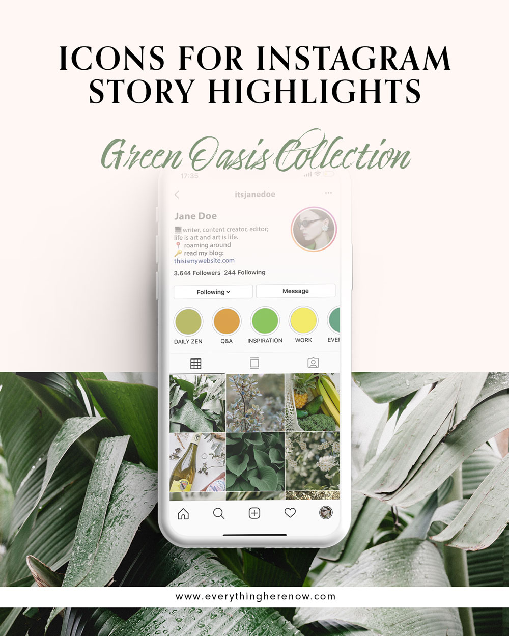 Icons for Instagram Story Highlights: Desert Heat Collection #instagram #instagramhighlights #icons Icons for Instagram Story Highlights: Green Oasis Collection #instagram #instagramhighlights #icons https://everythingherenow.com/shop/