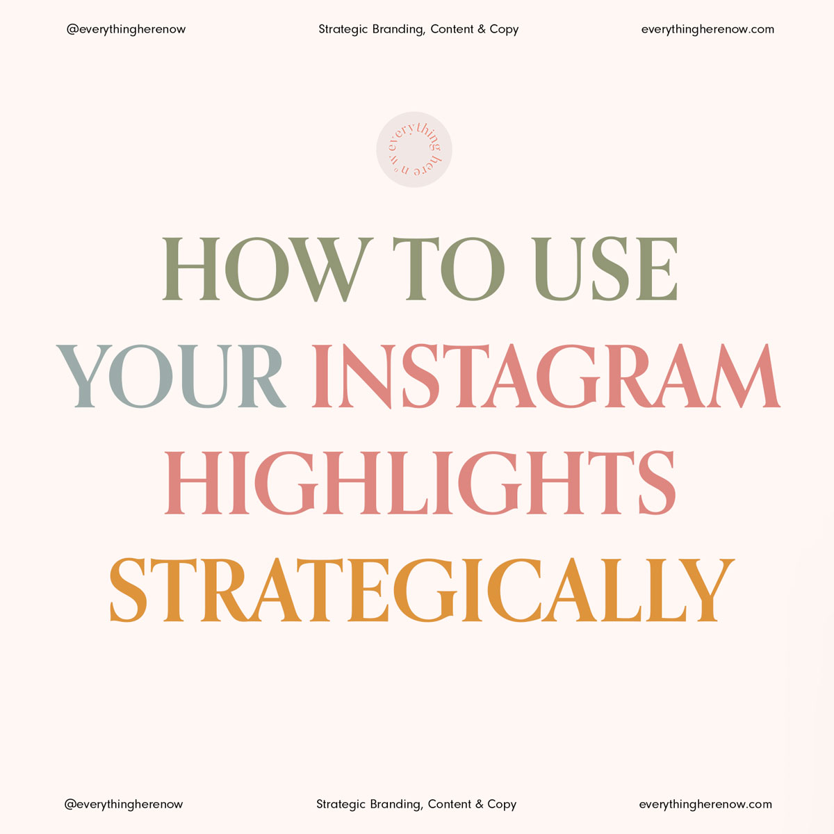 Instagram Highlights Strategy 1/10