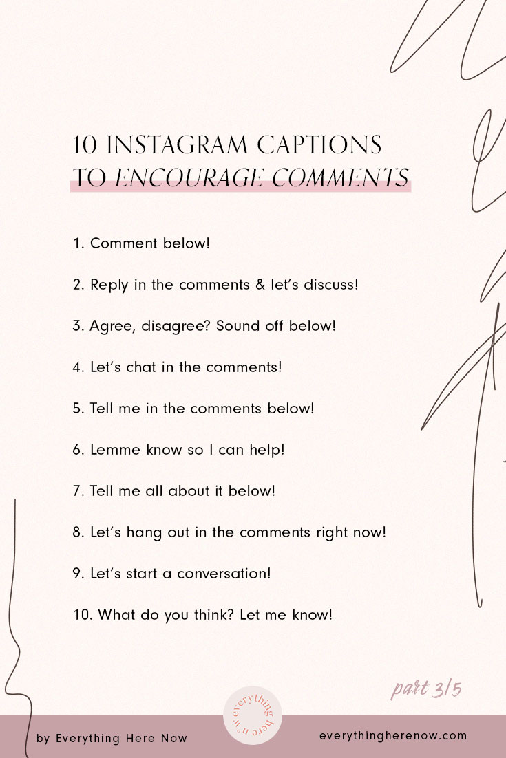 10 Short Instagram captions to encourage comments