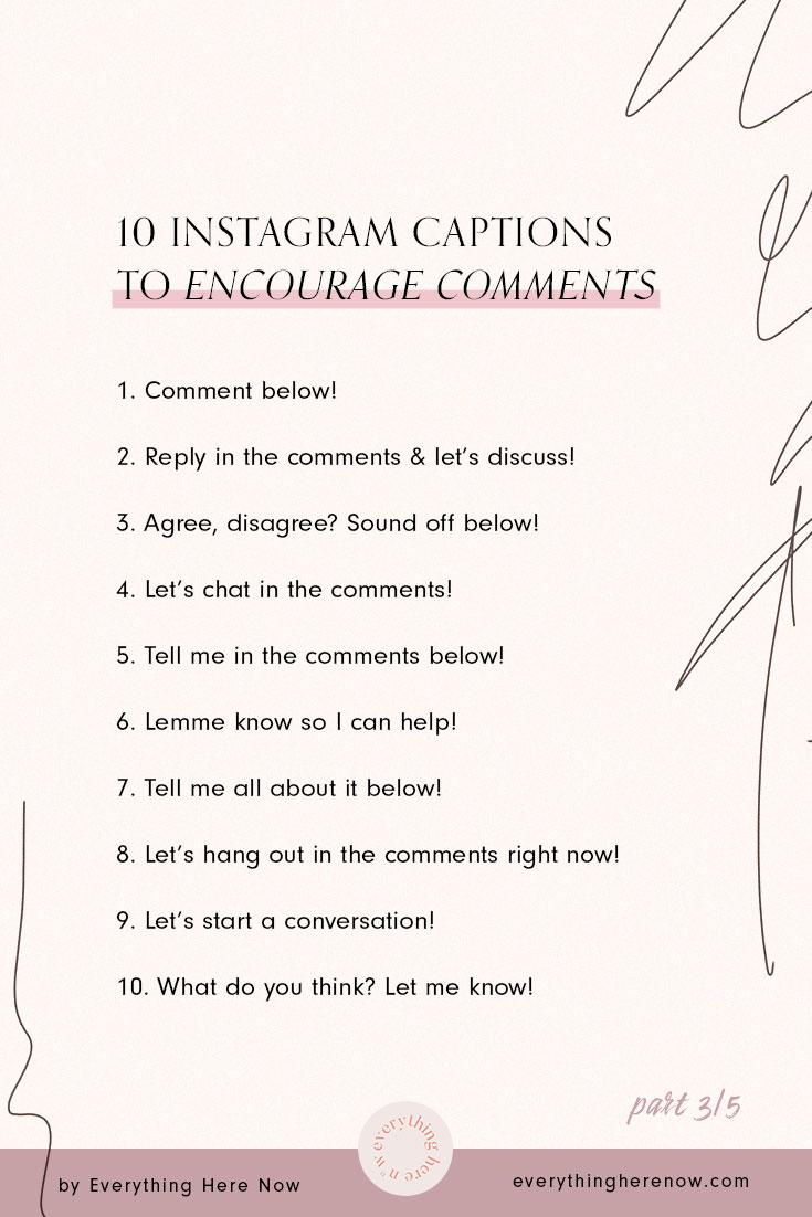 10 Short Instagram captions to encourage comments