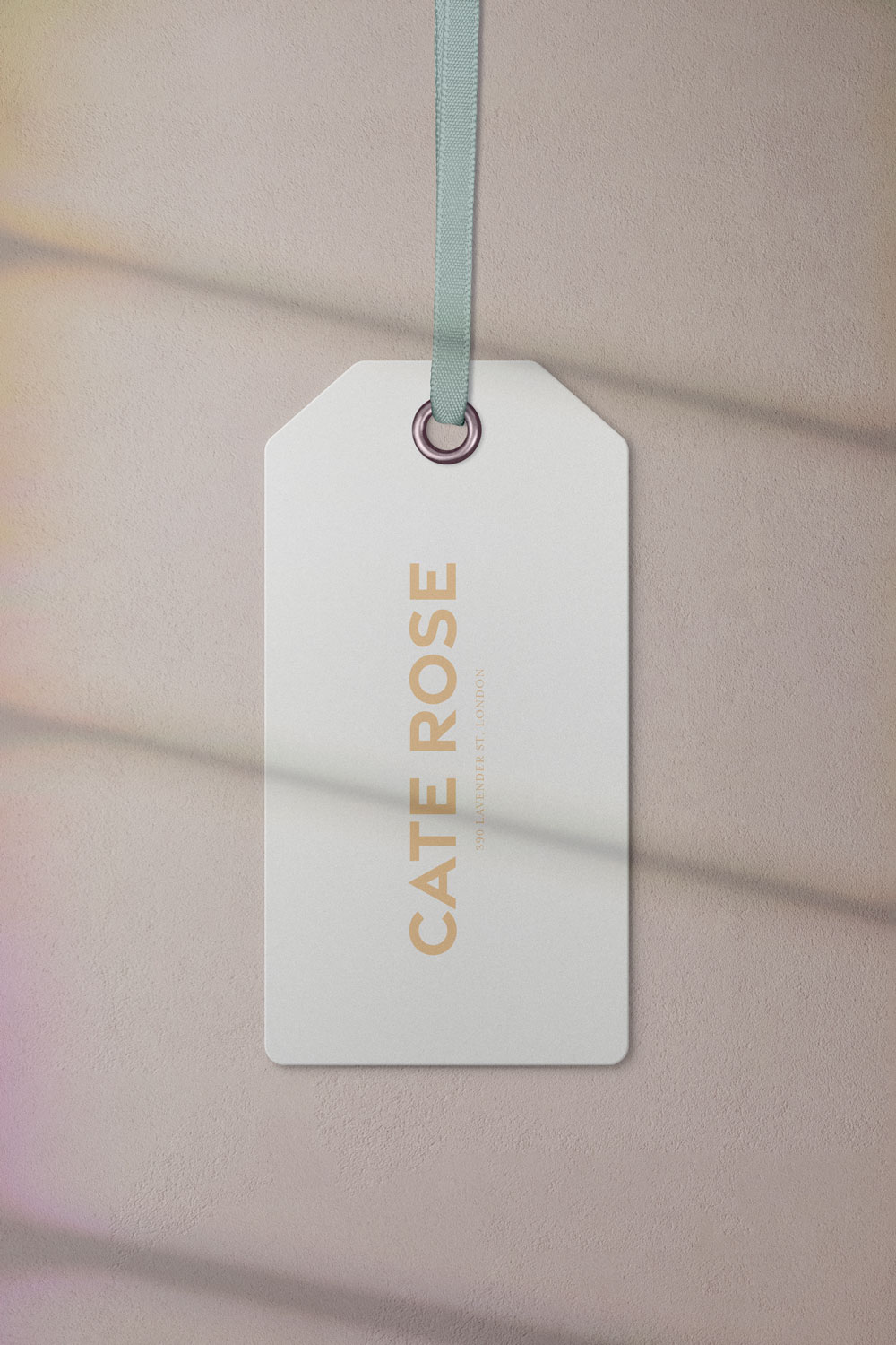 Cate Rose Brand Clothes Tag Mockup by Everything Here Now
