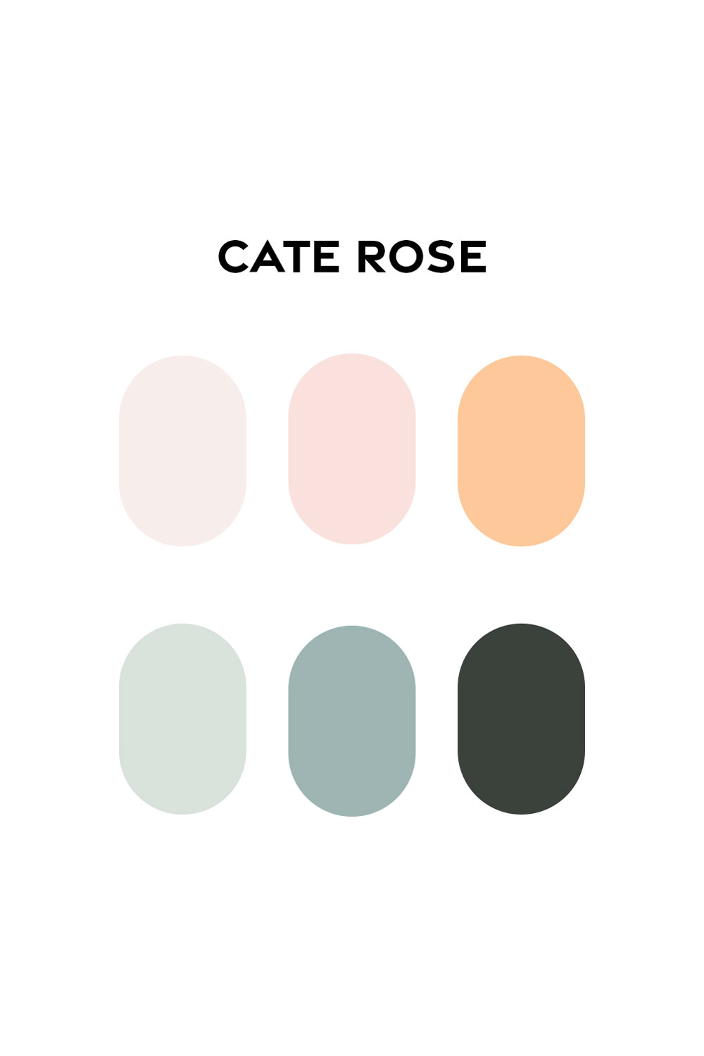Cate Rose Brand Color Swatches by Everything Here Now