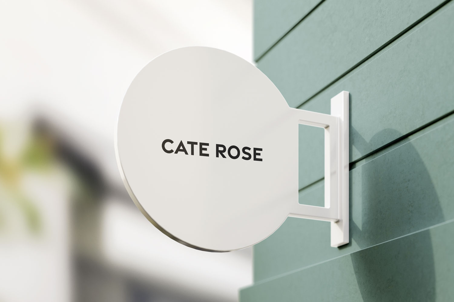 Cate Rose Brand Store Sign Mockup by Everything Here Now