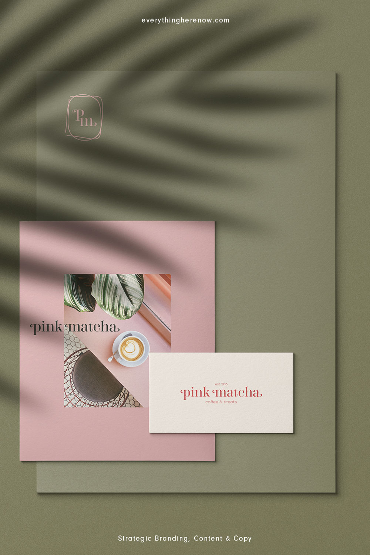 Pink Matcha Semi Custom Brand Identity Kit