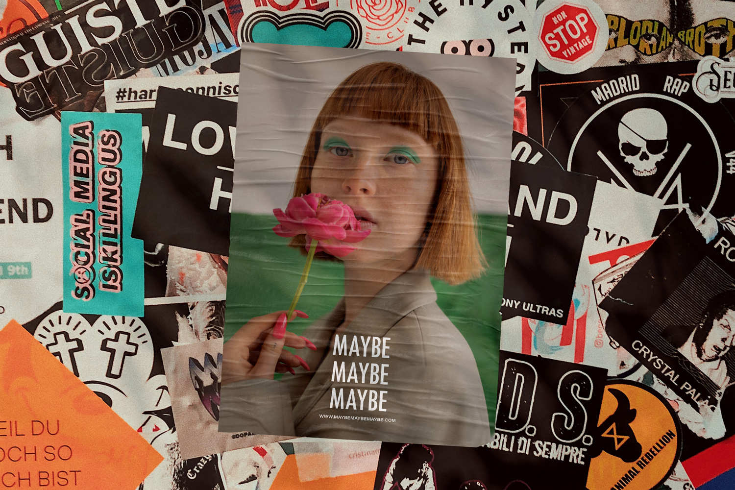 Maybe Maybe Maybe Single City Poster Mockup by Everything Here Now